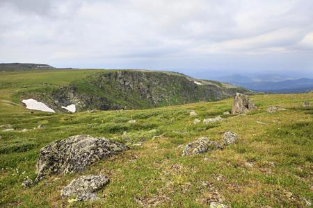 chemal: Beautiful landscape top of ridge Iolgo. Republic of Altai.