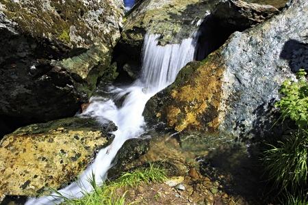 chemal: Beautiful Muehtinsky waterfall in the Altai Republic.