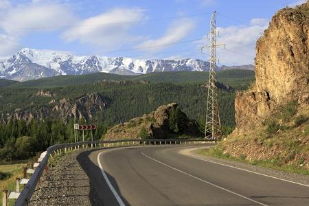 north ridge: Chuysky Trakt and snow caps of the North Chuya ridge.