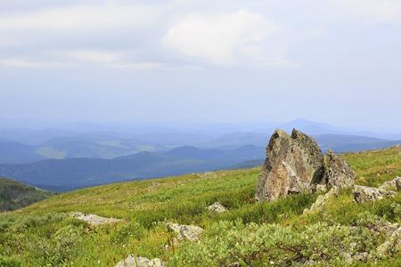 chemal: Beautiful scenery top of ridge Iolgo. Republic of Altai.