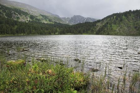 chemal: Beautiful landscape fifth Karakol lakes. Republic of Altai. Stock Photo