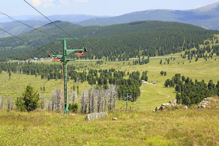 sports complex: Ski lifts of Mount Tiyahty. Sports complex Seminsky. Year-round training center biathletes.