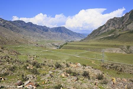 katun: River terraces of the mountain rivers Chuya and Katun