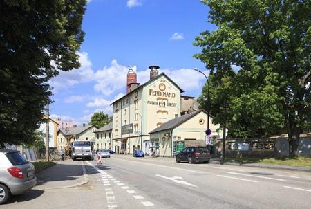 ferdinand: Benesov, Czech Republic - July 1, 2013: Ferdinand Brewery in the Benesov.