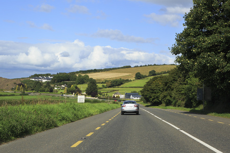 country roads: County Kerry, Ireland - August 22, 2014: Country roads in the Ireland.