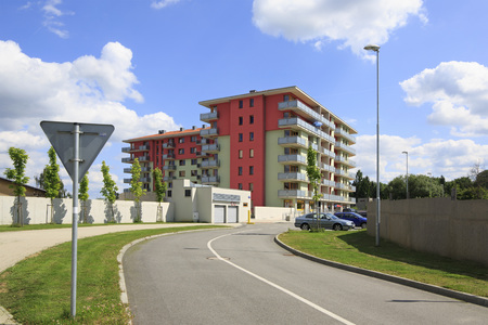 Benesov, Czech Republic - July 1, 2013: New residential area in the town of Benesov