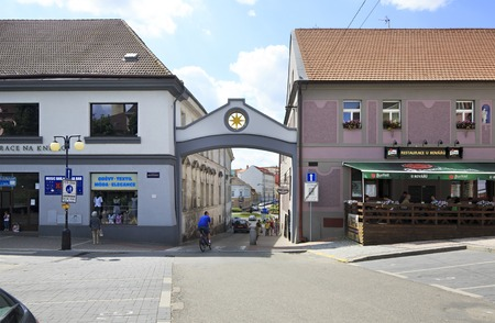 Benesov, Czech Republic - July 1, 2013: Architecture on the streets of town Benesov