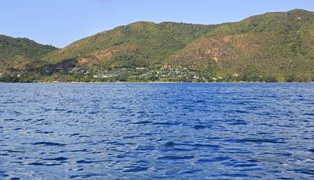 ladigue: Praslin Island, Seychelles - March 11, 2015: the Hotel Raffles Praslin Seychelles.