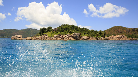 ladigue: Beautiful Curieuse Island in the Indian Ocean.