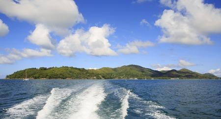 praslin: Beautiful Praslin Island in the Indian Ocean. Stock Photo
