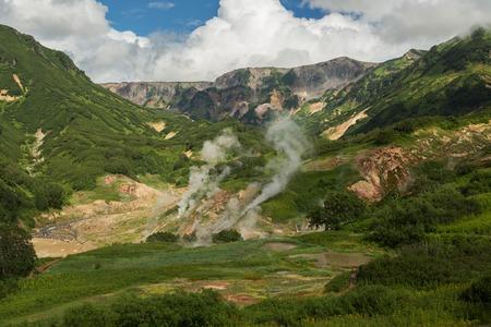kamchatka: Famous Valley of Geysers. Kronotsky Nature Reserve on Kamchatka Peninsula.