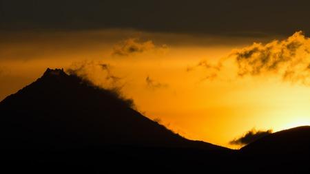 Sunrise Over volcanoes of the Kamchatka Peninsula