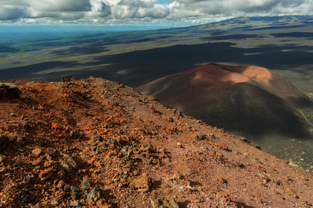 Volcano Gorshkov - First cinder cone of the North Breakthrough Great Tolbachik Fissure Eruption 1975