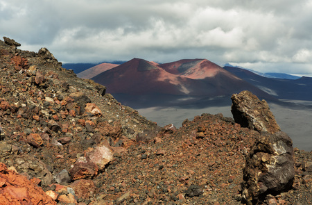 Cinder cone of the North Breakthrough Great Tolbachik Fissure Eruption 1975