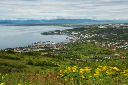 Avacha Bay and Petropavlovsk-Kamchatsky from the Mishennaya hills