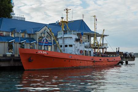 Sevastopol, Russia - June 09, 2016: Large hydrographic boat BGK-246 in Sevastopol