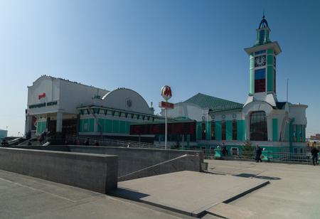 ノヴォシビルスク, ロシア連邦 - 2017 年 4 月 11 日: ビルのノヴォシビルスク市の鉄道駅