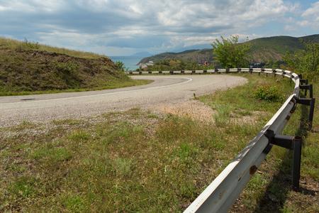 Road on the coast of the Black Sea of the Crimean peninsula