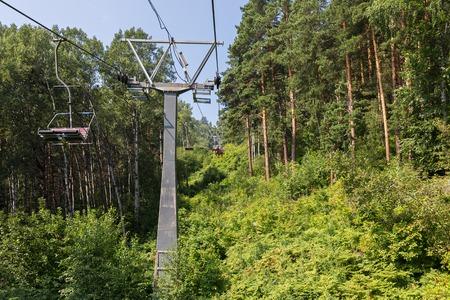 Cableway in the summer in Belokurikha in the Altai Krai Imagens