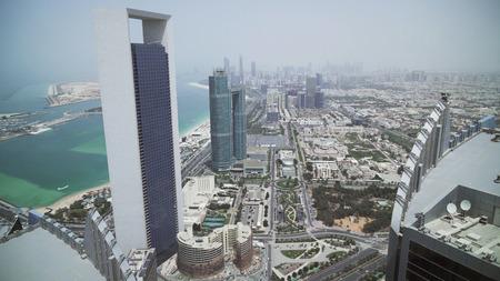 Beautiful top view of the Abu Dhabi, UAE
