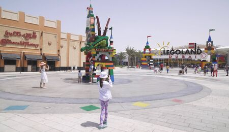 Dubai, UAE - April 01, 2018: Dubai Legoland at Dubai Parks and Resorts