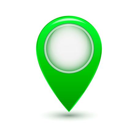 remark: Round green label isolated on white background Illustration