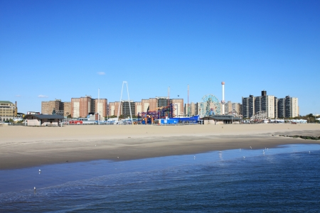 coney: A coney Island view in winter time Editorial