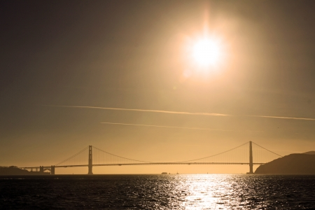Panoramic view of the Golden Gate bridge, San Francisco, USA photo