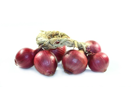 Red Tropea onions photo