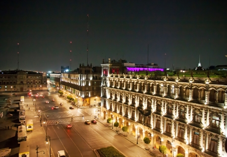 mexico city: A view of an old palace of the Zocalo, Mexico City