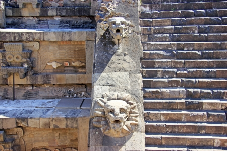 A fragment of the ruins of Teotihuacan, Mexico