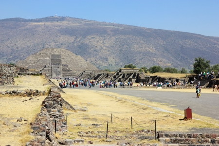 Pyramid of the Moon in Teotihuacan near Mexico City  photo