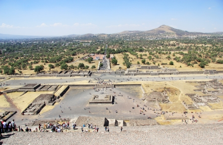 Archeologycal ruine in Teotihuacan, Mexico photo