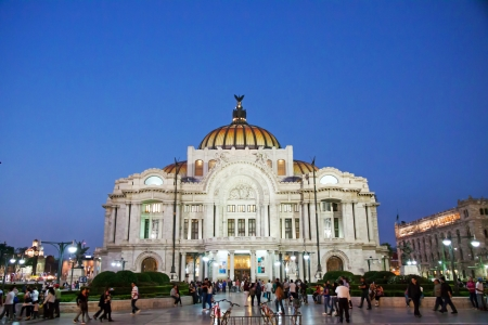 MEXICO CITY - FEBRARY 3, 2013; The Palacio de Bellas Artes, pronounced artistic monument by UNESCO in 1987, is the premier opera house of Mexico on february 3, 2013 in Mexico City