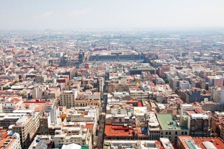 メキシコシティのソカロ空撮