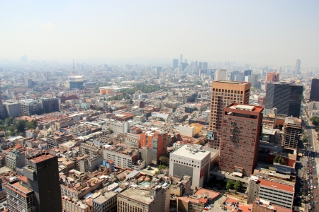smog: Aerial view of Mexico City, Mexico City