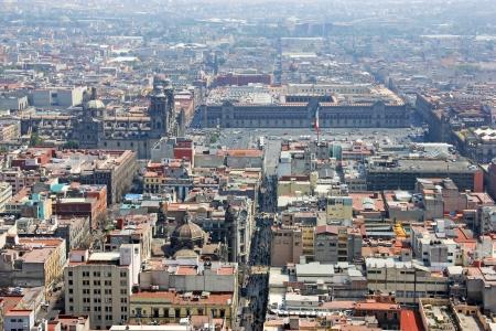 メキシコシティの空撮ウィット、ソカロ