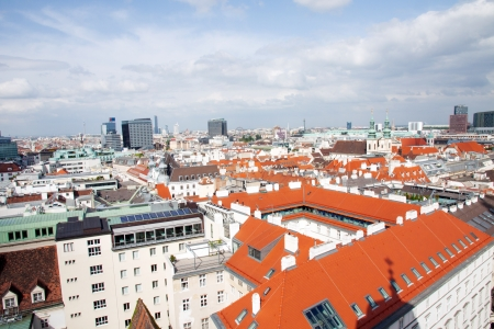 Aerial view of the downtown of Wien, Austria photo