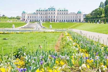 Exterior of Belvedere Palace in Wien, Austria photo