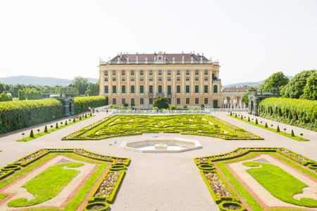privy: Privy garden of Schonbrunn Palace in Wien, Austria