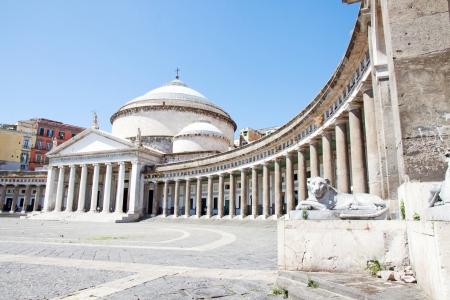 francesco: Architecture in Plebiscito Square in Naples, Italy