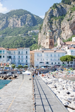 AMALFI, ITALY - JUNE 21,2013  Amalfi is the main town of the coast on which it is located, the Costiera Amalfitana