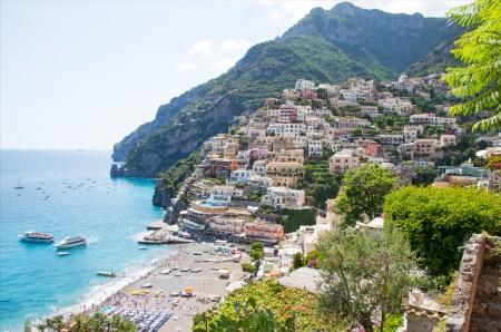 positano: Panoramic view of Positano, Amalfi Coast, Italy