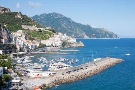 Panoramic view of Amalfi in the Amalfi Coast, Italy photo