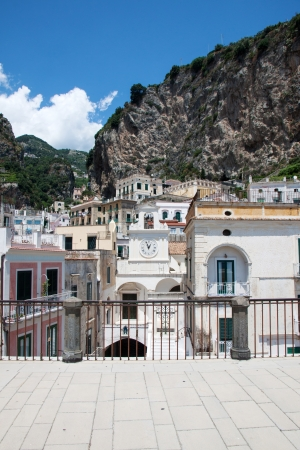 Panoramic view of Atrani in the Amalfi Coast, Italy photo