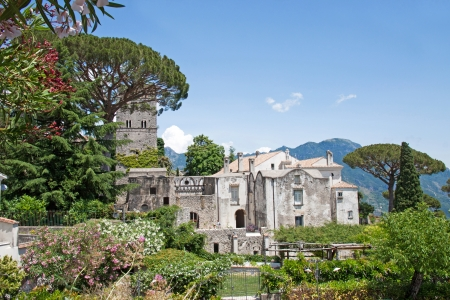 Panoramic view of Villa Rufolo in Ravello, Italy Stock Photo