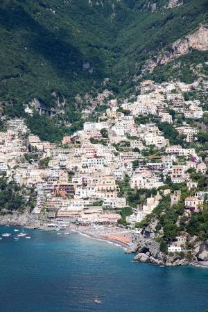 Panoramic view of Positano in the Amalfi Coast, Italy photo