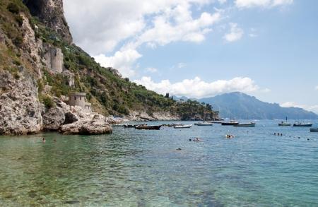 Panoramic view of Amalfi Coast, Italy photo