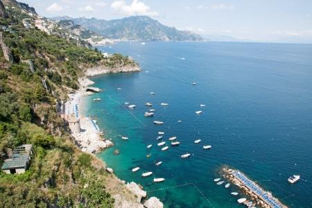 Panoramic view of the Amalfi Coast, Italy photo