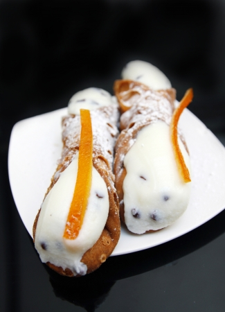 Cannoli, Typical Italian cake,